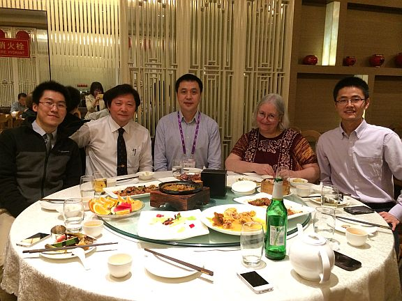 Luncheon in Beijing with Yixin Zhou, MD, PhD (to my right), and his colleagues
